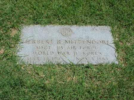 MITTENDORF (VETERAN 2 WARS), HERBERT R - Pulaski County, Arkansas | HERBERT R MITTENDORF (VETERAN 2 WARS) - Arkansas Gravestone Photos
