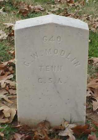MODLIN (VETERAN CSA), G W - Pulaski County, Arkansas | G W MODLIN (VETERAN CSA) - Arkansas Gravestone Photos