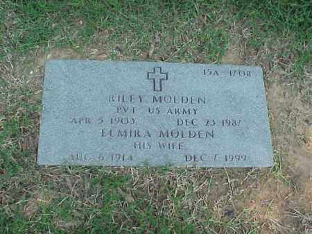 MOLDEN (VETERAN WWII), RILEY - Pulaski County, Arkansas | RILEY MOLDEN (VETERAN WWII) - Arkansas Gravestone Photos