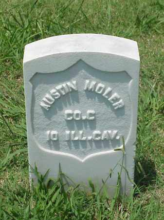 MOLER (VETERAN UNION), AUSTIN - Pulaski County, Arkansas | AUSTIN MOLER (VETERAN UNION) - Arkansas Gravestone Photos
