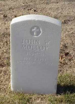 MOLLOY (VETERAN UNION), JOHN W - Pulaski County, Arkansas | JOHN W MOLLOY (VETERAN UNION) - Arkansas Gravestone Photos