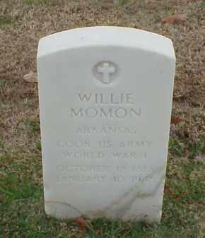 MOMON (VETERAN WWI), WILLIE - Pulaski County, Arkansas | WILLIE MOMON (VETERAN WWI) - Arkansas Gravestone Photos