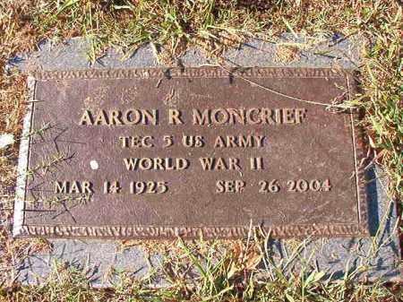 MONCRIEF (VETERAN WWII), AARON R - Pulaski County, Arkansas | AARON R MONCRIEF (VETERAN WWII) - Arkansas Gravestone Photos