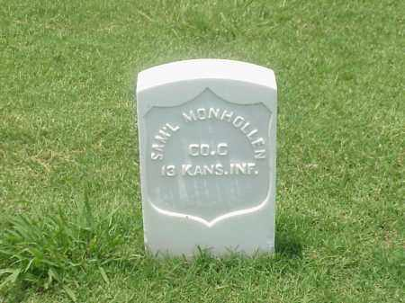 MONHOLLEN (VETERAN UNION), SAMUEL - Pulaski County, Arkansas | SAMUEL MONHOLLEN (VETERAN UNION) - Arkansas Gravestone Photos
