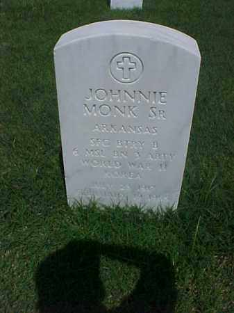 MONK, SR (VETERAN 2 WARS), JOHNNIE - Pulaski County, Arkansas | JOHNNIE MONK, SR (VETERAN 2 WARS) - Arkansas Gravestone Photos