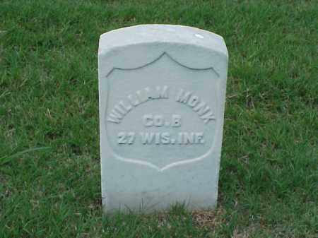 MONK (VETERAN UNION), WILLIAM - Pulaski County, Arkansas | WILLIAM MONK (VETERAN UNION) - Arkansas Gravestone Photos
