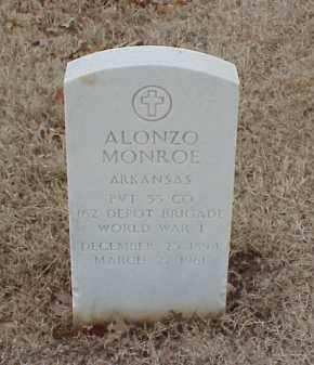 MONROE  (VETERAN WWI), ALONZO - Pulaski County, Arkansas | ALONZO MONROE  (VETERAN WWI) - Arkansas Gravestone Photos