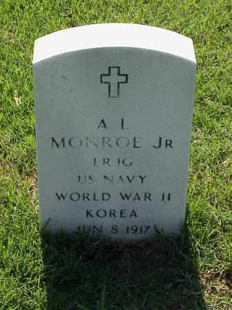 MONROE, JR (VETERAN 2 WARS), A L - Pulaski County, Arkansas | A L MONROE, JR (VETERAN 2 WARS) - Arkansas Gravestone Photos