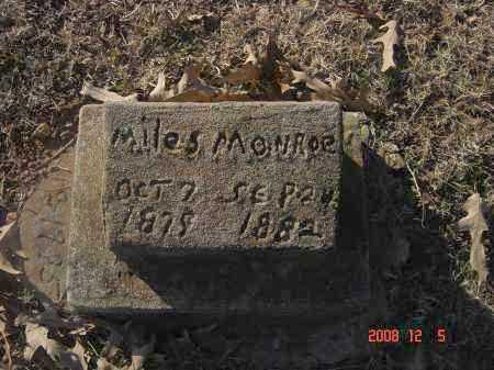 MONROE, MILES - Pulaski County, Arkansas | MILES MONROE - Arkansas Gravestone Photos