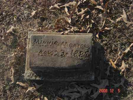 MONROE, MINNIE - Pulaski County, Arkansas | MINNIE MONROE - Arkansas Gravestone Photos