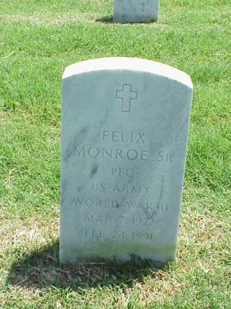 MONROE, SR (VETERAN WWII), FELIX - Pulaski County, Arkansas | FELIX MONROE, SR (VETERAN WWII) - Arkansas Gravestone Photos