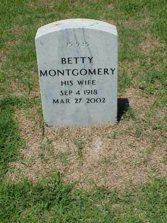 MONTGOMERY, BETTY - Pulaski County, Arkansas | BETTY MONTGOMERY - Arkansas Gravestone Photos