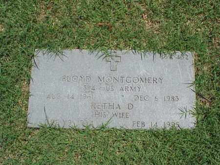 MONTGOMERY, RETHA D. - Pulaski County, Arkansas | RETHA D. MONTGOMERY - Arkansas Gravestone Photos