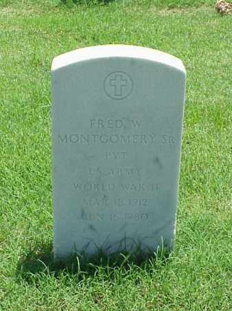 MONTGOMERY, SR (VETERAN WWII), FRED W - Pulaski County, Arkansas | FRED W MONTGOMERY, SR (VETERAN WWII) - Arkansas Gravestone Photos