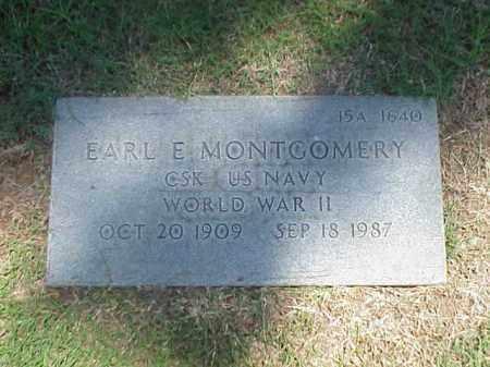 MONTGOMERY (VETERAN WWII), EARL E - Pulaski County, Arkansas | EARL E MONTGOMERY (VETERAN WWII) - Arkansas Gravestone Photos