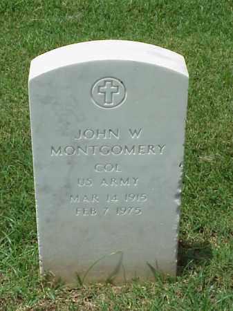 MONTGOMERY (VETERAN WWII), JOHN W - Pulaski County, Arkansas | JOHN W MONTGOMERY (VETERAN WWII) - Arkansas Gravestone Photos