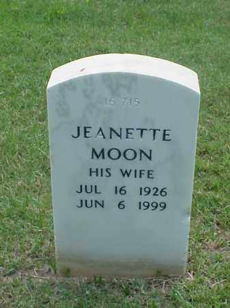MOON, JEANETTE - Pulaski County, Arkansas | JEANETTE MOON - Arkansas Gravestone Photos