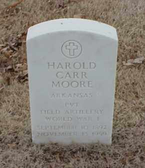 MOORE  (VETERAN WWI), HAROLD CARR - Pulaski County, Arkansas | HAROLD CARR MOORE  (VETERAN WWI) - Arkansas Gravestone Photos