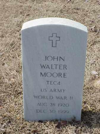 MOORE  (VETERAN WWII), JOHN WALTER - Pulaski County, Arkansas | JOHN WALTER MOORE  (VETERAN WWII) - Arkansas Gravestone Photos