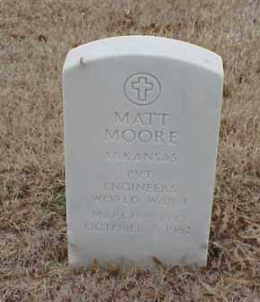 MOORE  (VETERAN WWI), MATT - Pulaski County, Arkansas | MATT MOORE  (VETERAN WWI) - Arkansas Gravestone Photos