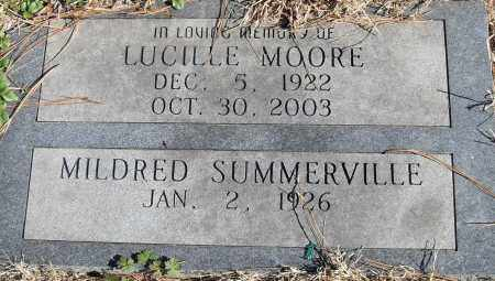 SUMMERVILLE, MILDRED - Pulaski County, Arkansas | MILDRED SUMMERVILLE - Arkansas Gravestone Photos