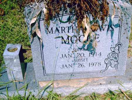 DAVIS MOORE, MARTHA - Pulaski County, Arkansas | MARTHA DAVIS MOORE - Arkansas Gravestone Photos