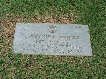 MOORE (VETERAN 3 WARS), JOHNNIE H - Pulaski County, Arkansas | JOHNNIE H MOORE (VETERAN 3 WARS) - Arkansas Gravestone Photos