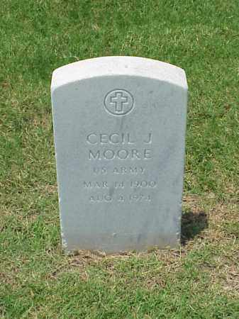 MOORE (VETERAN WWI), CECIL J - Pulaski County, Arkansas | CECIL J MOORE (VETERAN WWI) - Arkansas Gravestone Photos