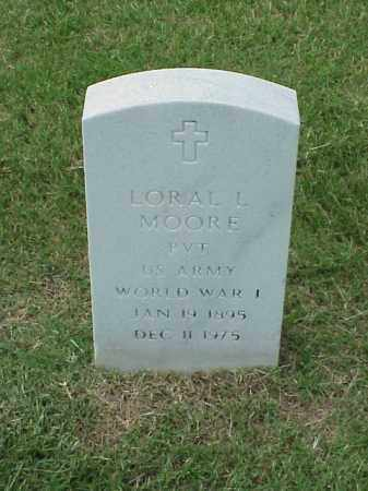 MOORE (VETERAN WWI), LORAL L - Pulaski County, Arkansas | LORAL L MOORE (VETERAN WWI) - Arkansas Gravestone Photos