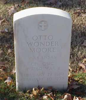 MOORE (VETERAN WWI), OTTO WONDER - Pulaski County, Arkansas | OTTO WONDER MOORE (VETERAN WWI) - Arkansas Gravestone Photos