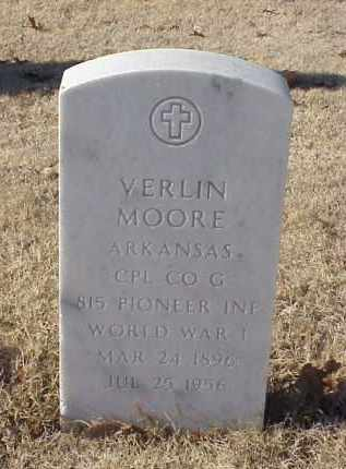 MOORE (VETERAN WWI), VERLIN - Pulaski County, Arkansas | VERLIN MOORE (VETERAN WWI) - Arkansas Gravestone Photos