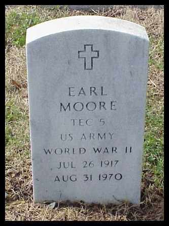 MOORE (VETERAN WWII), EARL - Pulaski County, Arkansas | EARL MOORE (VETERAN WWII) - Arkansas Gravestone Photos
