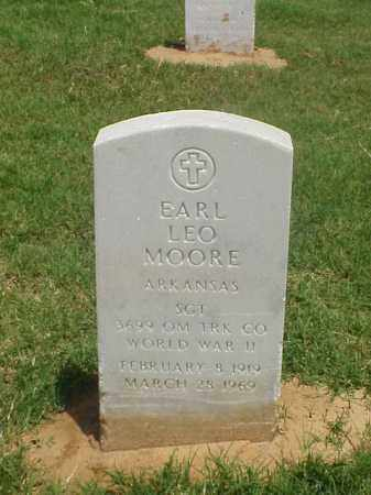 MOORE (VETERAN WWII), EARL LEO - Pulaski County, Arkansas | EARL LEO MOORE (VETERAN WWII) - Arkansas Gravestone Photos