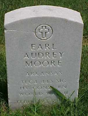 MOORE (VETERAN WWII), EARL AUDREY - Pulaski County, Arkansas | EARL AUDREY MOORE (VETERAN WWII) - Arkansas Gravestone Photos