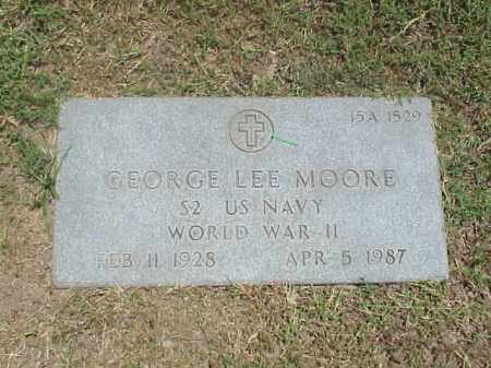 MOORE (VETERAN WWII), GEORGE LEE - Pulaski County, Arkansas | GEORGE LEE MOORE (VETERAN WWII) - Arkansas Gravestone Photos