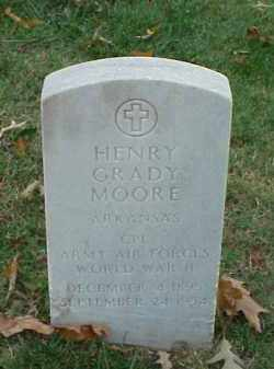 MOORE (VETERAN WWII), HENRY GRADY - Pulaski County, Arkansas | HENRY GRADY MOORE (VETERAN WWII) - Arkansas Gravestone Photos