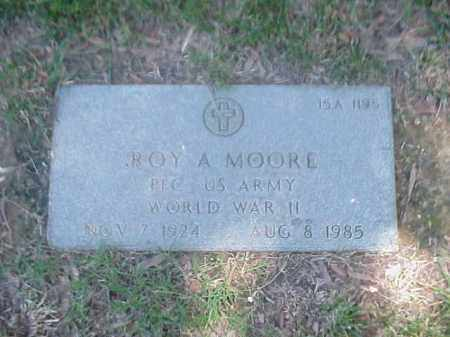 MOORE (VETERAN WWII), ROY A - Pulaski County, Arkansas | ROY A MOORE (VETERAN WWII) - Arkansas Gravestone Photos