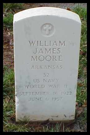 MOORE (VETERAN WWII), WILLIAM JAMES - Pulaski County, Arkansas | WILLIAM JAMES MOORE (VETERAN WWII) - Arkansas Gravestone Photos