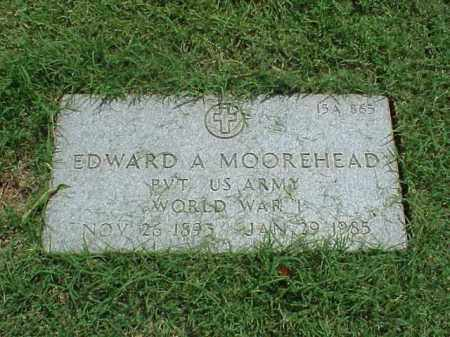 MOOREHEAD (VETERAN WWI), EDWARD A - Pulaski County, Arkansas | EDWARD A MOOREHEAD (VETERAN WWI) - Arkansas Gravestone Photos
