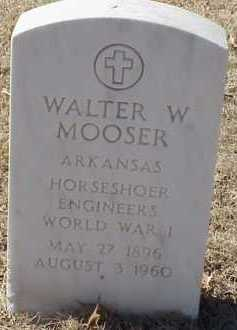 MOOSER  (VETERAN WWI), WALTER W - Pulaski County, Arkansas | WALTER W MOOSER  (VETERAN WWI) - Arkansas Gravestone Photos