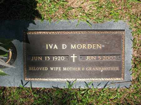 MORDEN, IVA D - Pulaski County, Arkansas | IVA D MORDEN - Arkansas Gravestone Photos