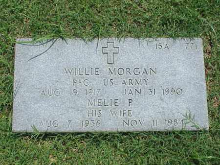 MORGAN (VETERAN WWII), WILLIE - Pulaski County, Arkansas | WILLIE MORGAN (VETERAN WWII) - Arkansas Gravestone Photos