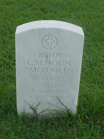 MORRILL (VETERAN WWI), JOHN CALHOUN - Pulaski County, Arkansas | JOHN CALHOUN MORRILL (VETERAN WWI) - Arkansas Gravestone Photos