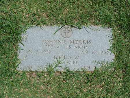 MORRIS (VETERAN WWII), JOHNNIE - Pulaski County, Arkansas | JOHNNIE MORRIS (VETERAN WWII) - Arkansas Gravestone Photos