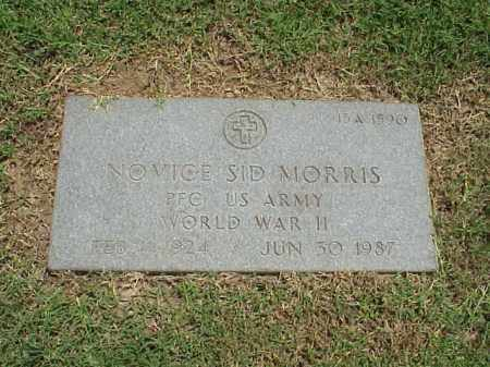 MORRIS (VETERAN WWII), NOVICE SID - Pulaski County, Arkansas | NOVICE SID MORRIS (VETERAN WWII) - Arkansas Gravestone Photos