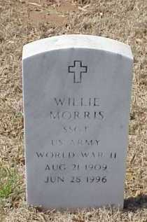 MORRIS (VETERAN WWII), WILLIE - Pulaski County, Arkansas | WILLIE MORRIS (VETERAN WWII) - Arkansas Gravestone Photos