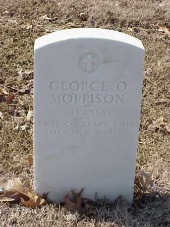 MORRISON (VETERAN WWI), GEORGE O - Pulaski County, Arkansas | GEORGE O MORRISON (VETERAN WWI) - Arkansas Gravestone Photos