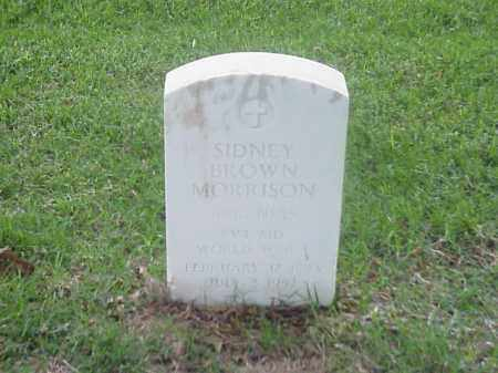 MORRISON (VETERAN WWI), SIDNEY BROWN - Pulaski County, Arkansas | SIDNEY BROWN MORRISON (VETERAN WWI) - Arkansas Gravestone Photos