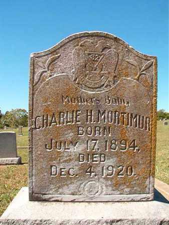 MORTIMUR, CHARLIE H - Pulaski County, Arkansas | CHARLIE H MORTIMUR - Arkansas Gravestone Photos