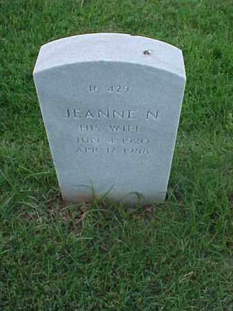 MORITZ, JEANNE N - Pulaski County, Arkansas | JEANNE N MORITZ - Arkansas Gravestone Photos